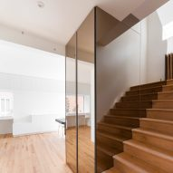 Jean-Maxime Labrecque adds mirrored staircase to Playful Tudor home in Montreal