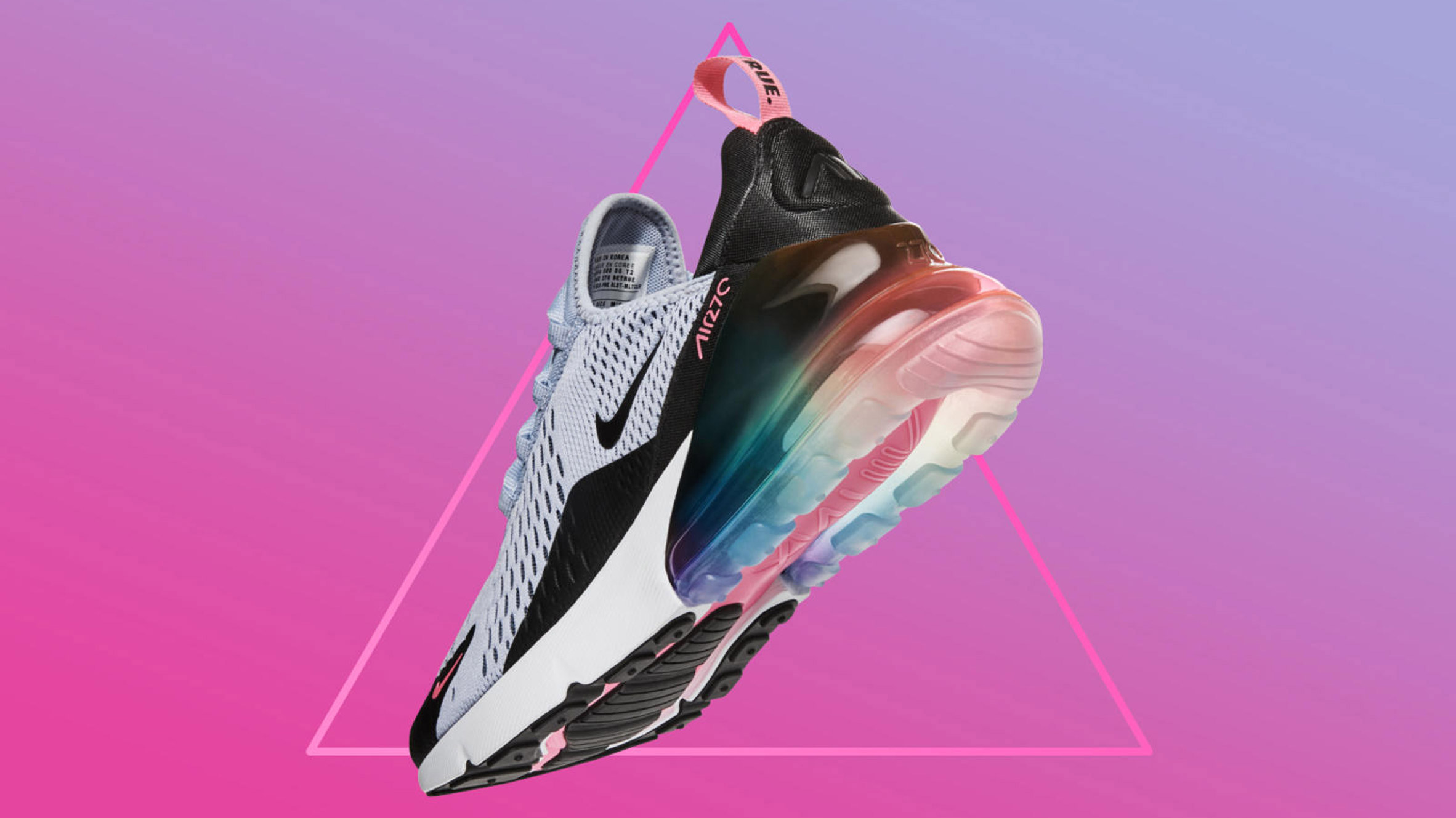 62be93b0e7ad Nike releases trainer featuring pink triangle for Pride