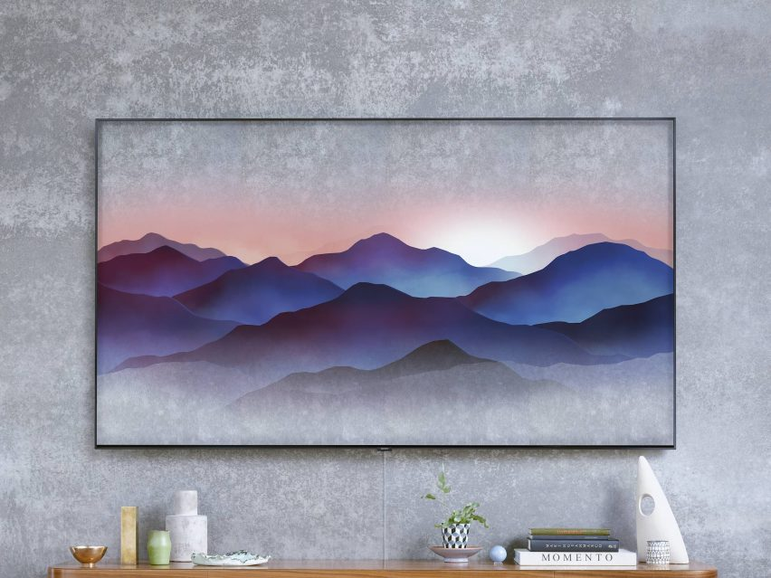 Samsung Adds Ambient Mode Allowing Qled Tvs To Blend Into The Wall