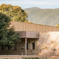 Amelia Tavella Architectes completes stone and timber school in Corsica