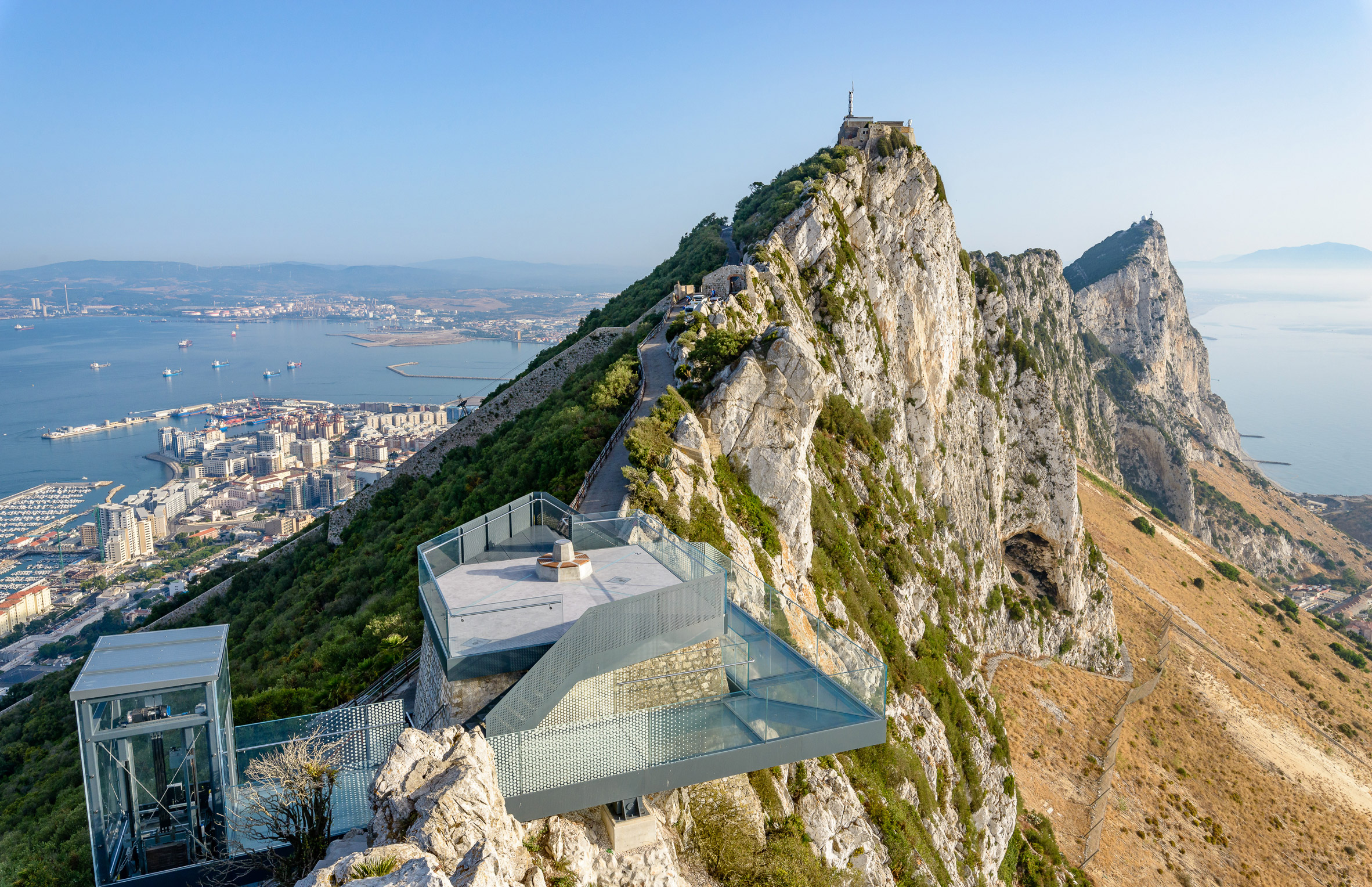 Former military lookout in Gibraltar transformed into glazed viewpoint