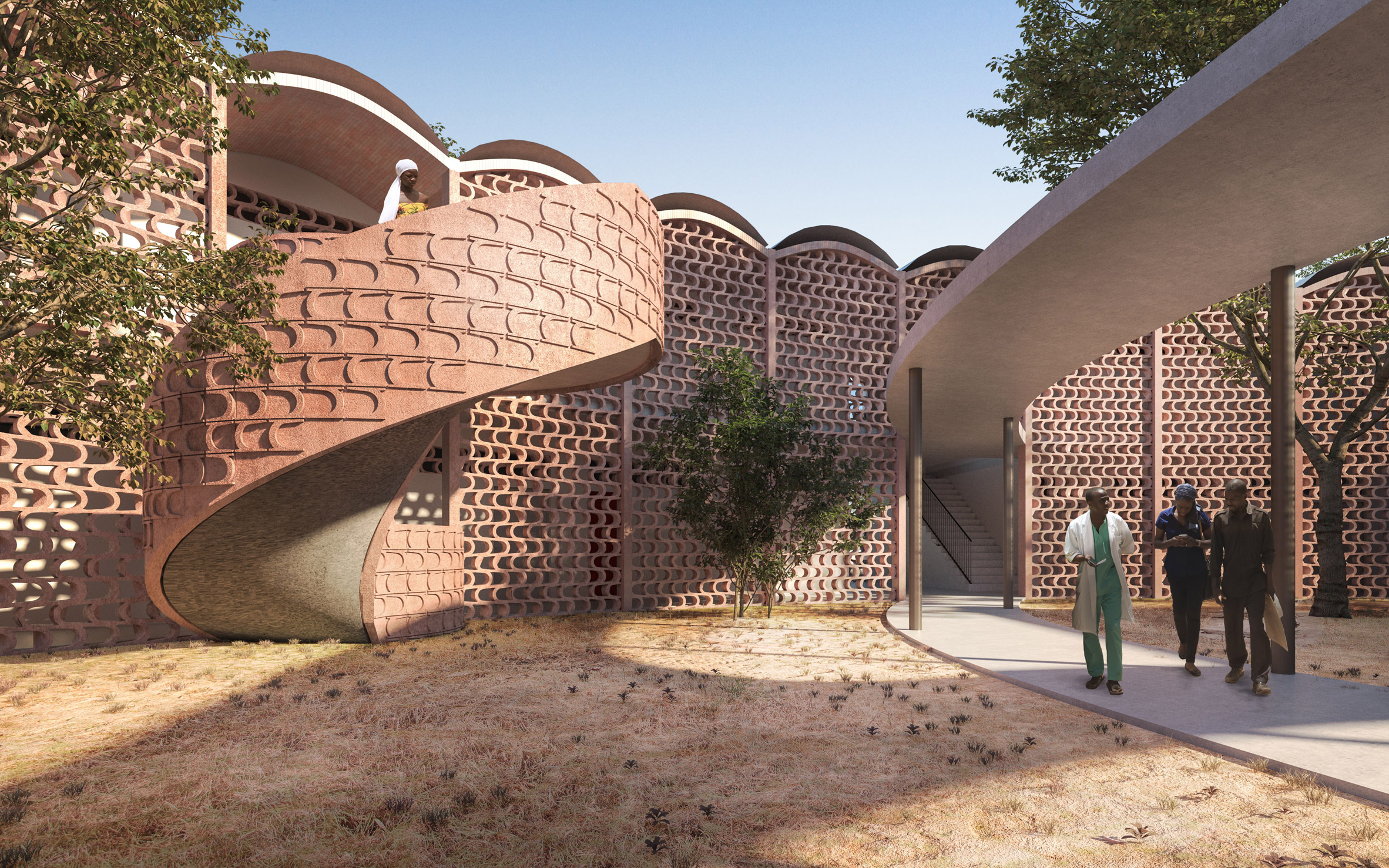 Manuel Herz Architects plans S-shaped extension to Senegalese hospital