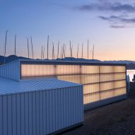 Polycarbonate Dock Building by Michael Green Architecture glows on Vancouver beachfront