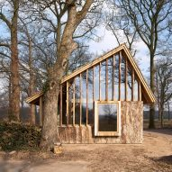HilberinkBosch Architects creates asymmetric barn using wood felled from own land