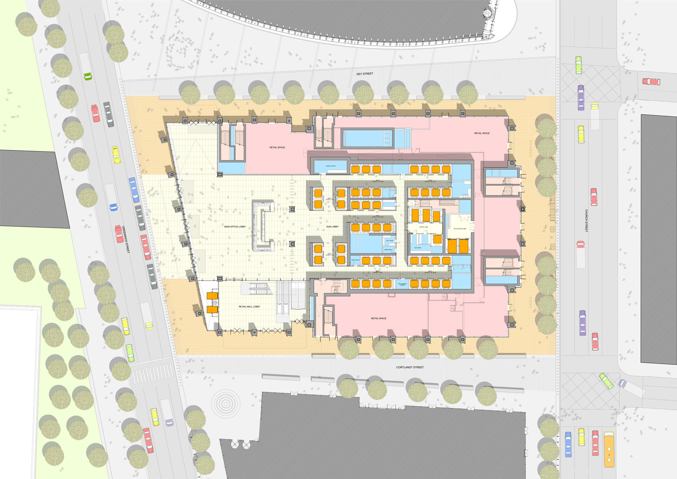 site plan three world trade center