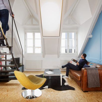 Attic Apartment In Paris Overhauled With Industrial Materials By Florent  Chagny Architecture