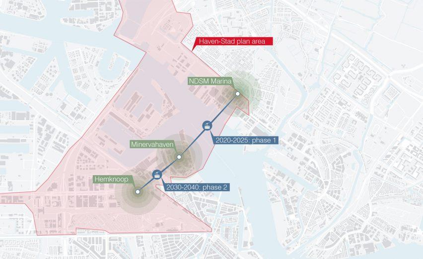 UNStudio reveals designs for Amsterdam cable car
