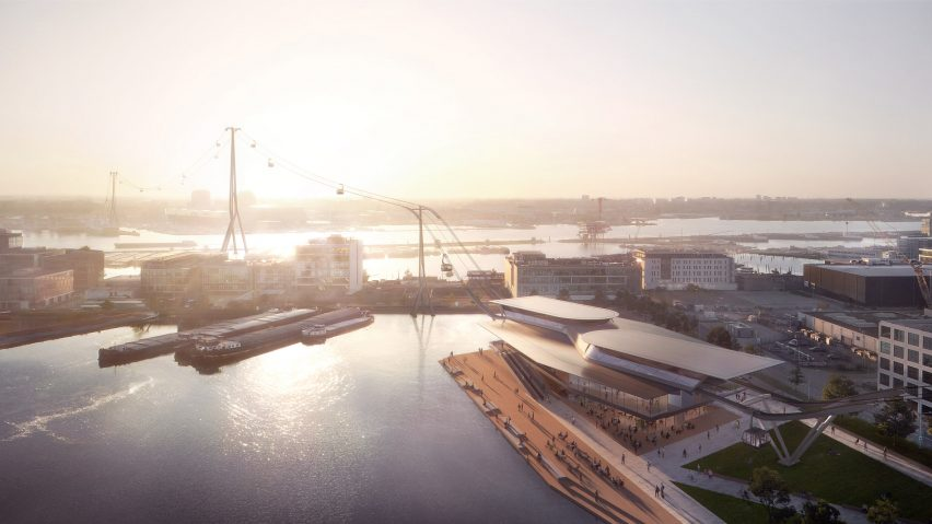 UNStudio reveals designs for Amsterdam cable car
