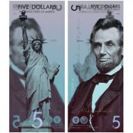 Andrey Avgust reimagines US dollar bills as vertical designs