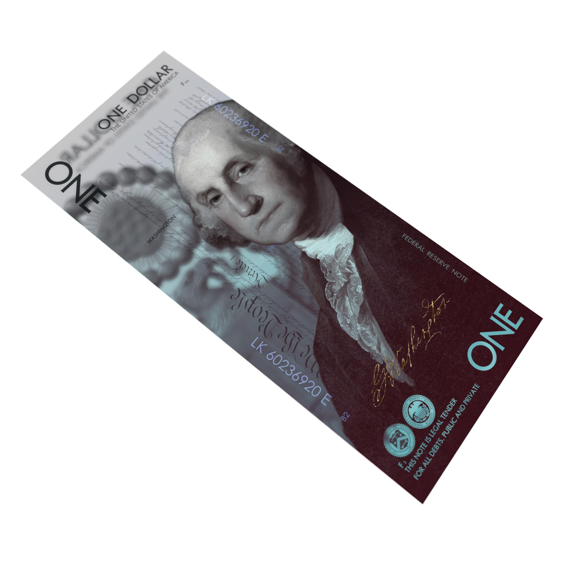 Andrey Avgust reimagines US dollar bills as vertical designs