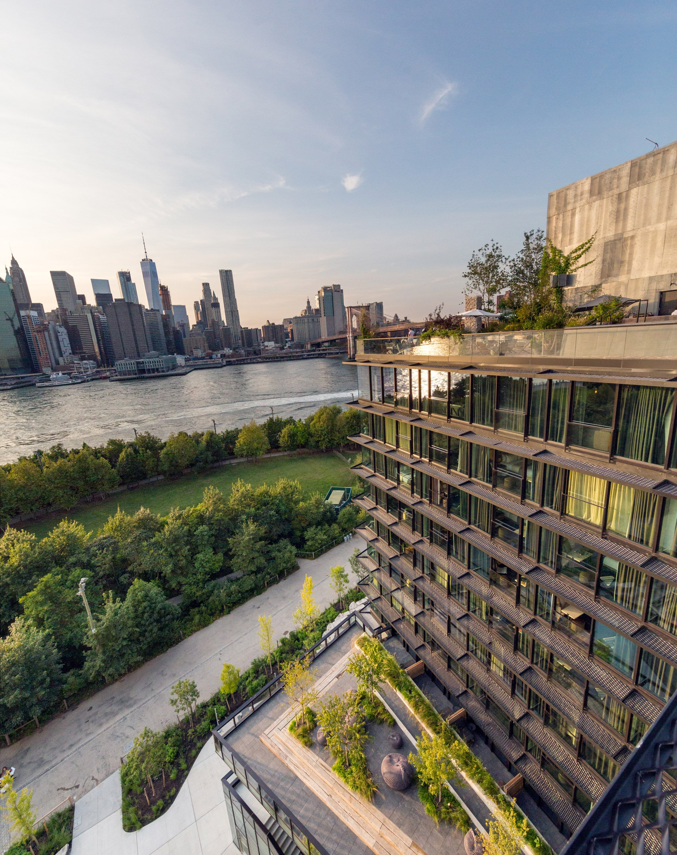 """1 Hotel Brooklyn Bridge designed """"to be part of the park"""" says Jonathan Marvel"""
