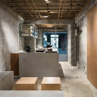 Yusuke Seki creates stripped-back coffee shop with raw concrete walls in Kobe