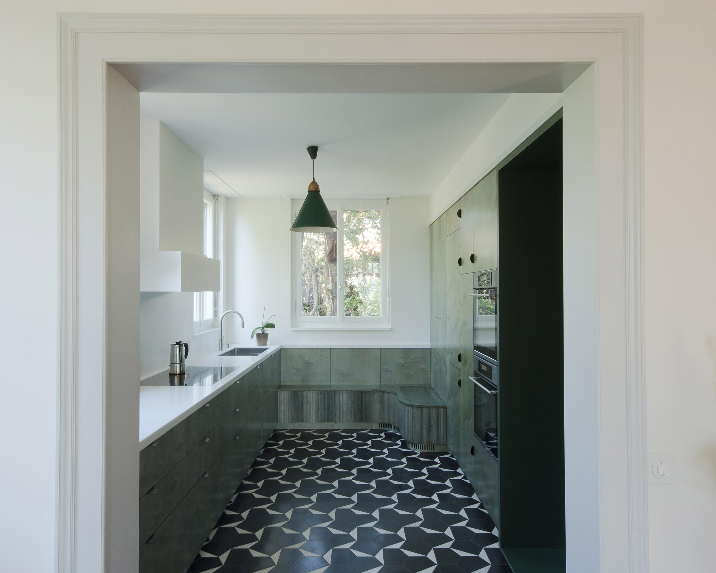 Bureau brisson architectes refresh hilltop villa in lausanne