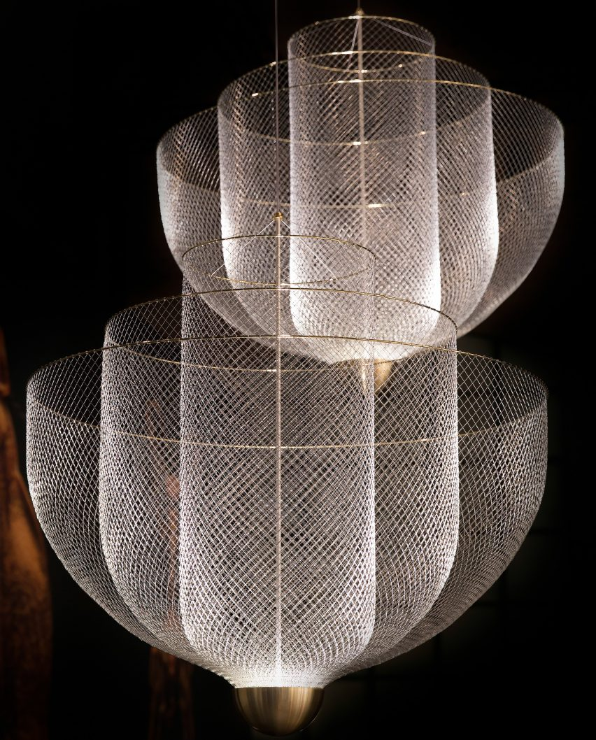 Meshmatics Chandelier by Rick Tegelaar for Moooi