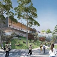 "Foster + Partners plans new Federation Square Apple Store to replace ""Pizza Hut pagoda"" design"