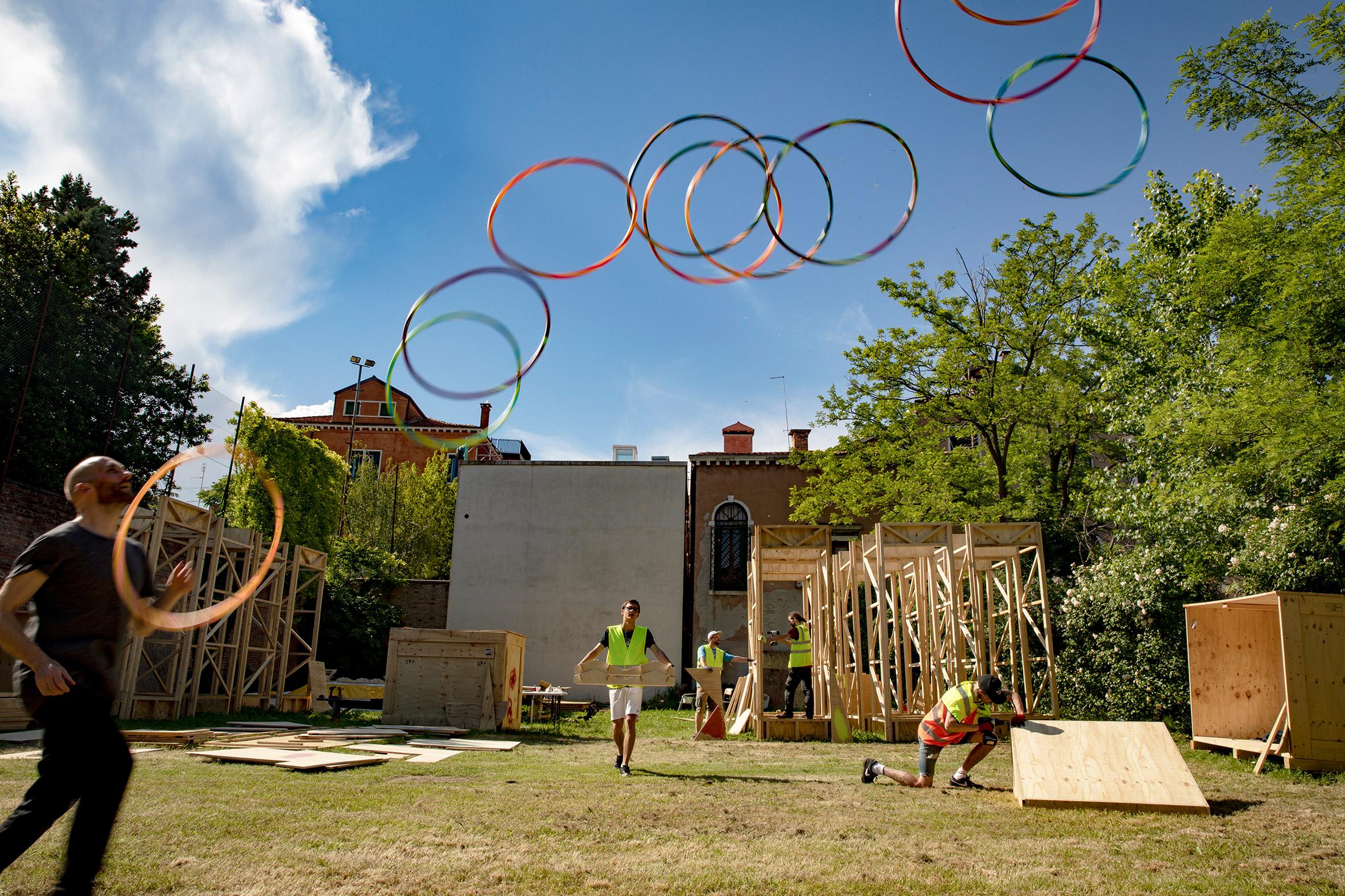 Baxendale Venice Biennale installation, photo by Basharat Khan
