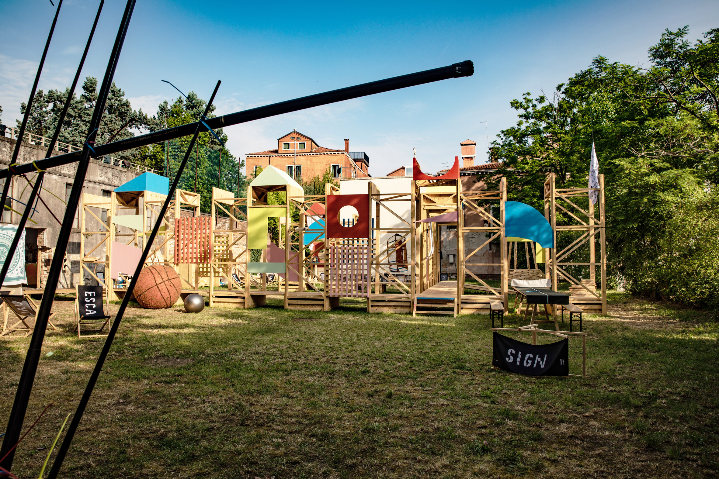Baxendale's Venice outdoor playground made permanent for length of biennale