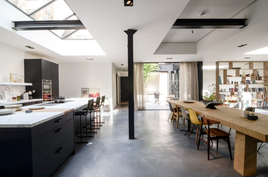 Standard Studio use patio and skylights to funnel light into Amsterdam loft