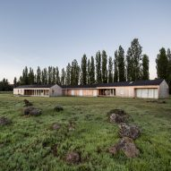 Ignacio Correa crafts wooden Casa Camilo for family of farmers in Chile