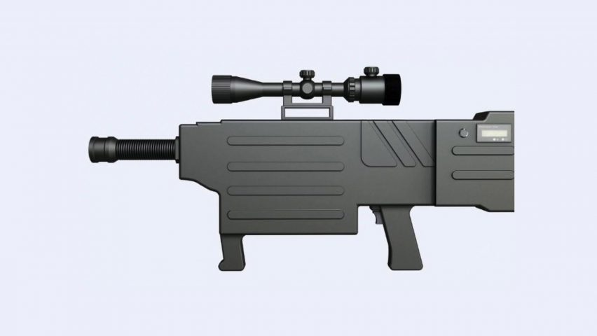 Renderings of the ZKZM-500 laser assault rifle.