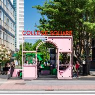 Vibrant street furniture creates sociable square in south London