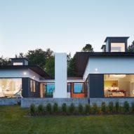Cube-shaped skylights illuminate Deloia Residence by Salmela Architect