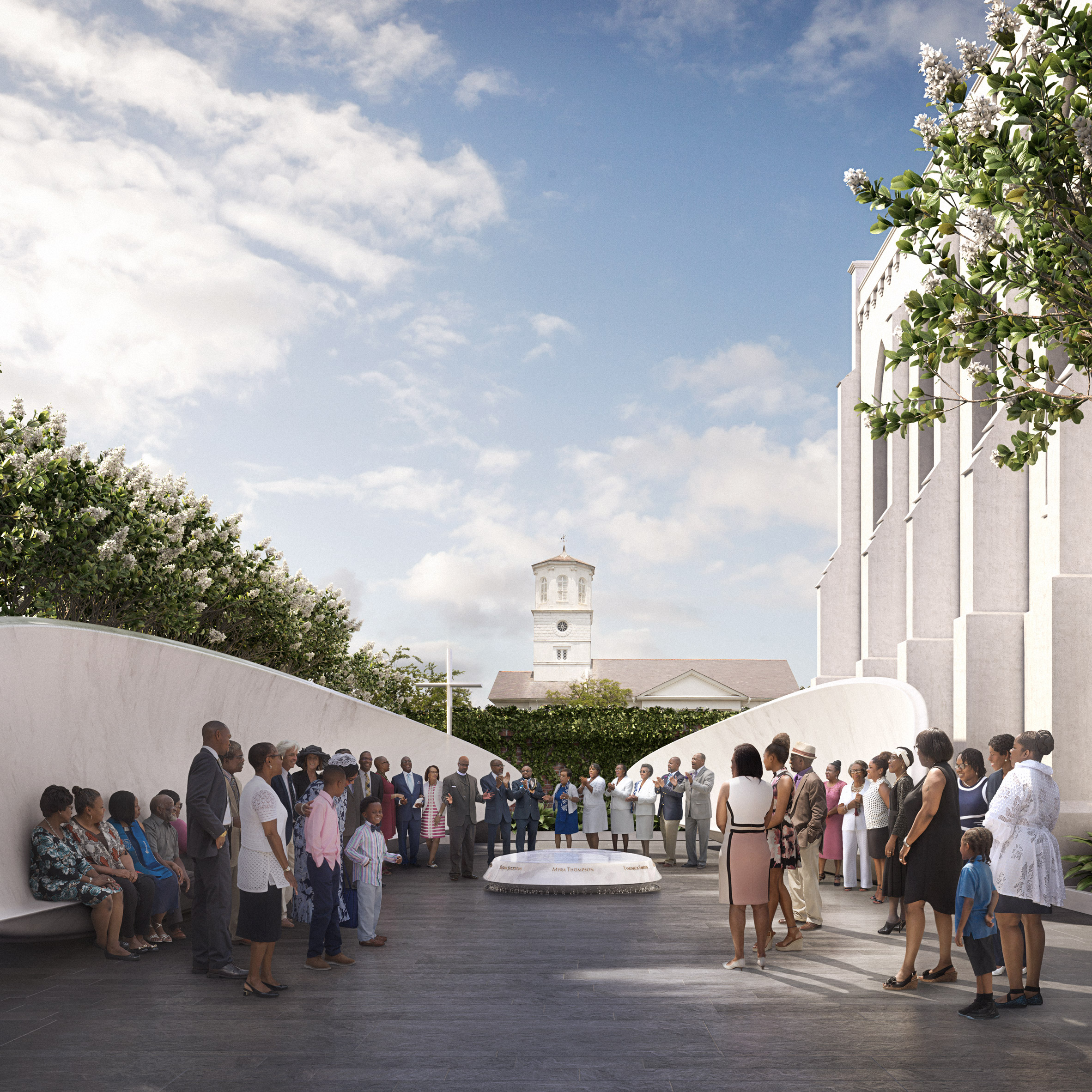 Michael Arad Unveils Memorial For Charleston Church Shooting