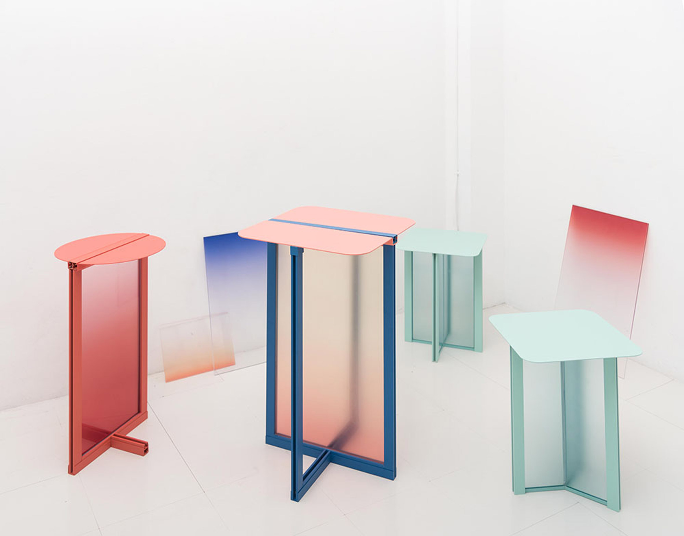 Femme Atelier reimagines the doorframe as collection of ombre furniture