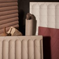 Flutes and Reeds tiles by GRT Architects evoke classical architecture