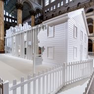 Snarkitecture builds white Fun House for retrospective in Washington DC