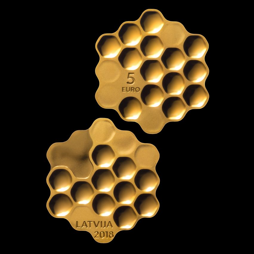 Arthur Analts pays tribute to Latvia with honeycomb coin design