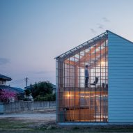 Snark's House in Nakauchi is half opaque home and half transparent sunroom