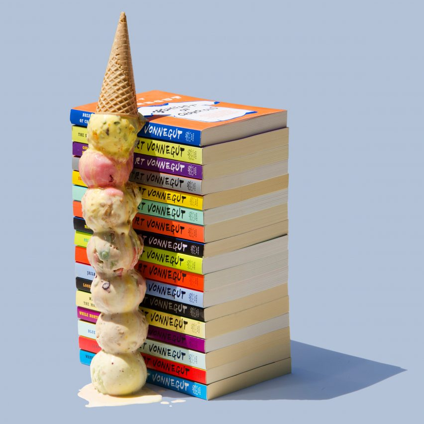 Ben Denzer marries ice cream with books in summery photography series