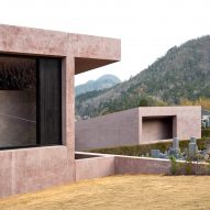 David Chipperfield Architects completes pink visitor centre and chapel at Inagawa Cemetery