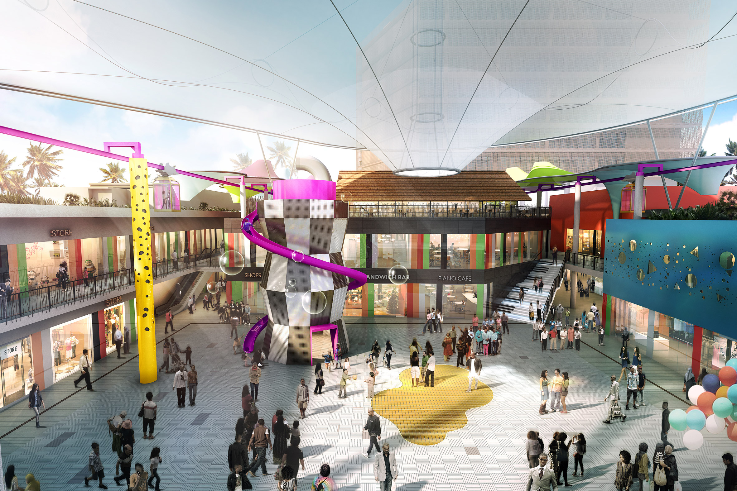 Will Alsop's only African project to be fun-filled shopping centre