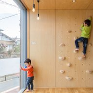 Climbing wall and swing promote play at Hibinosekkei's Tokyo childcare centre