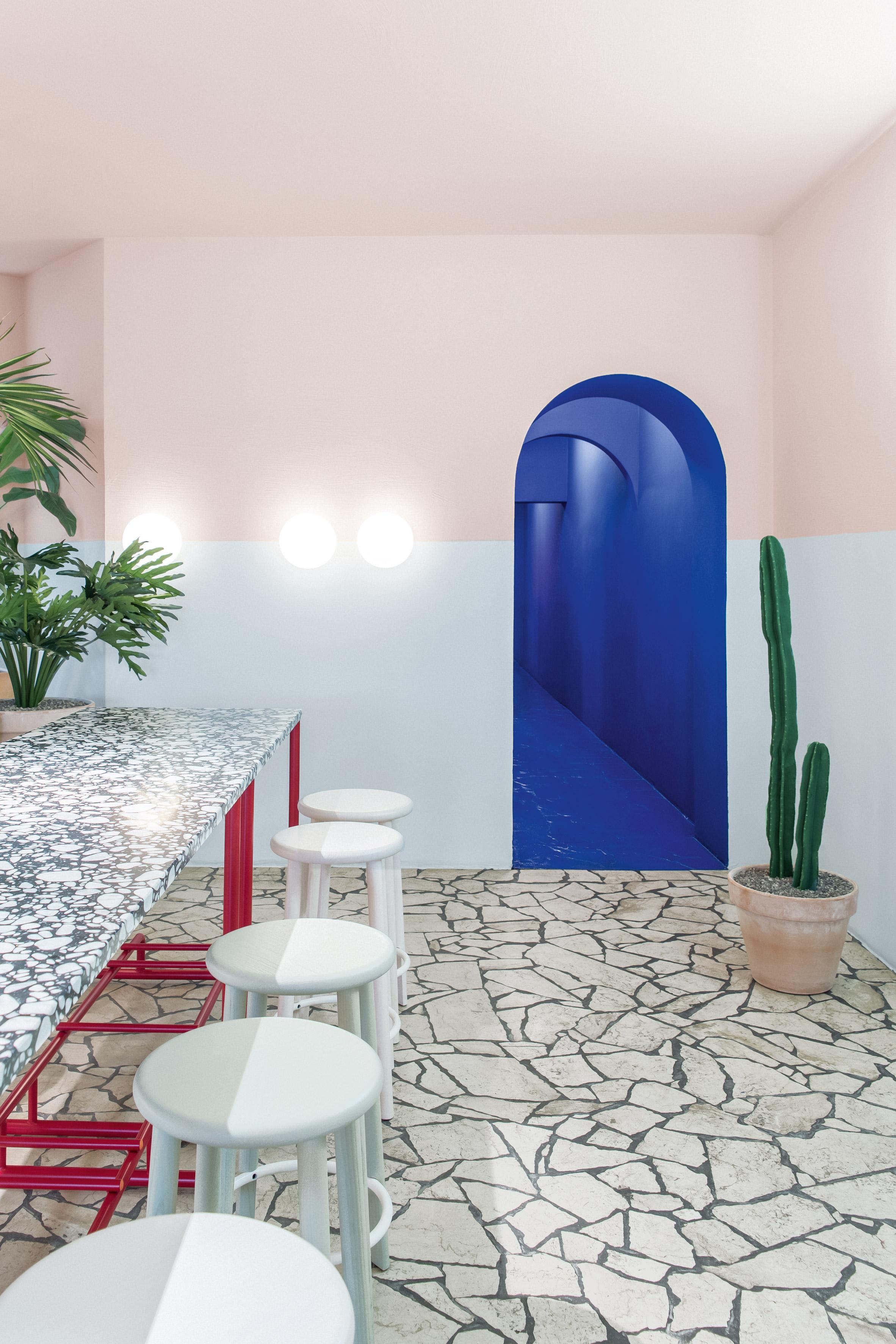 Berlin restaurant LA Poke takes cues from Hockney's A Bigger Splash