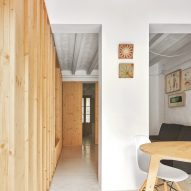 Original tiles are crushed to create a new floor in this Barcelona apartment
