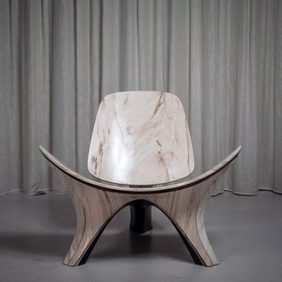 Zaha Hadid Architects reinterprets classic Hans J Wegner chair in stone