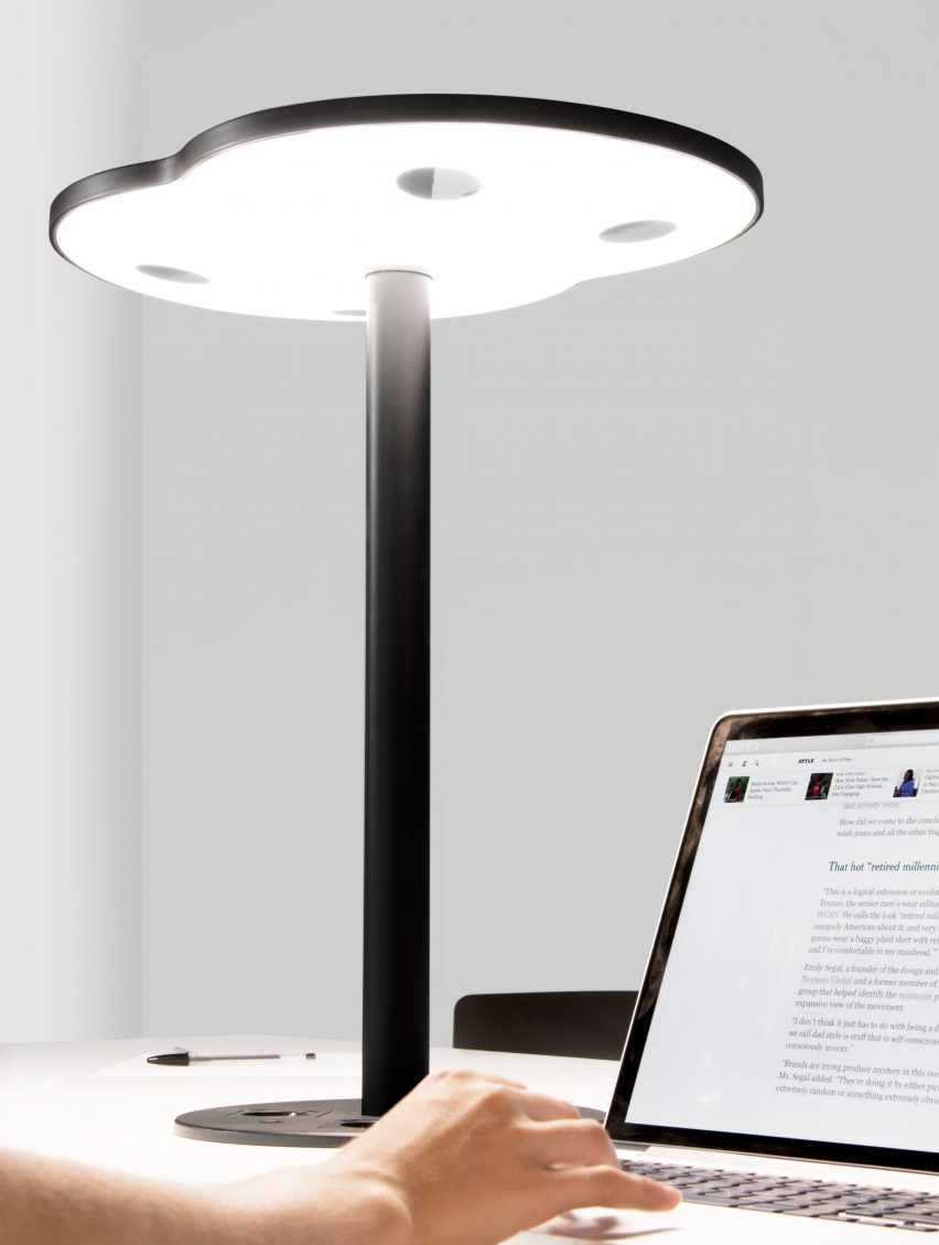 C-224 lamp uses LiFi technology to transmit data through beams of light
