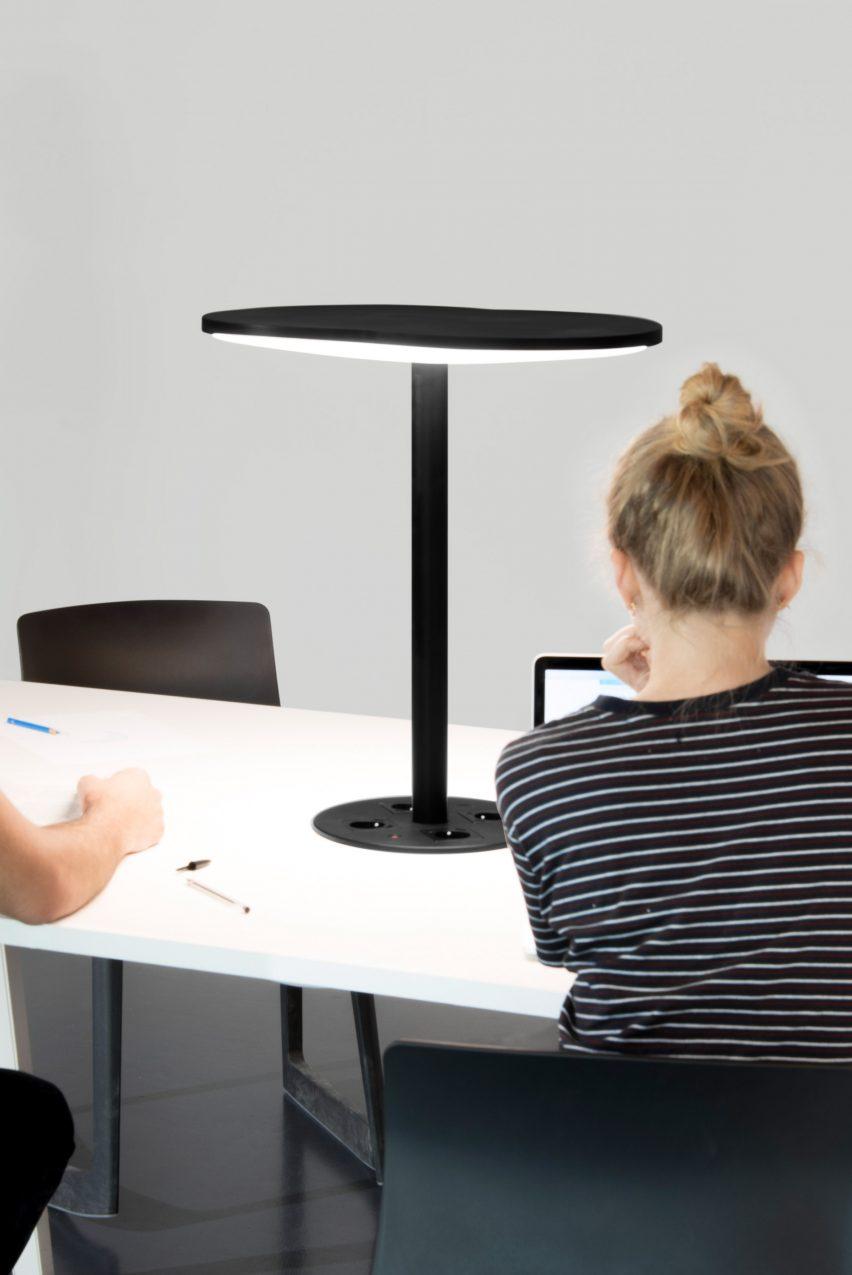 C-224 lamp uses LiFi technology to transmit data through beams of light