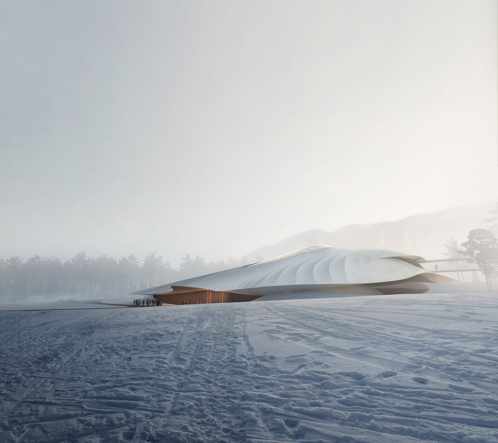 MAD reveals designs for Yabuli Conference Centre in Chinese mountains