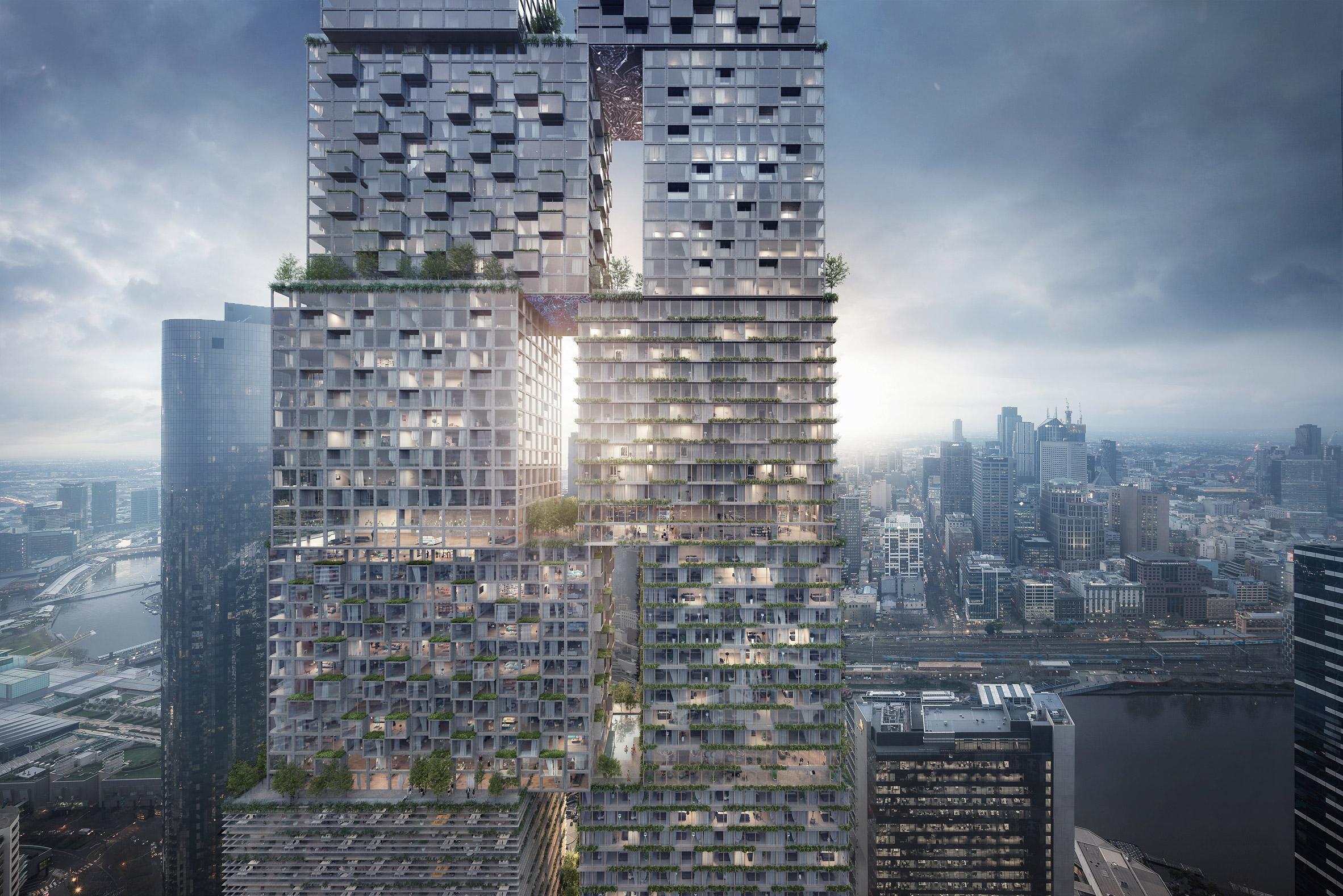 BIG, MAD, MVRDV and OMA on shortlist to design Australia's tallest building