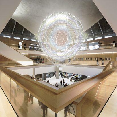 """Loop.pH para instalar un """"dirigible de energía mental"""" en el atrio del Museo del Diseño"""