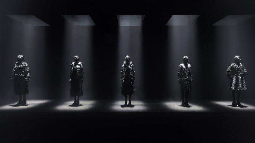 Kei Ninomiya uses Moncler's down jacket as basis for all-black collection