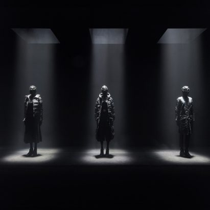 Kei Ninomiya uses Moncler's down jacket as basis for all-black collection