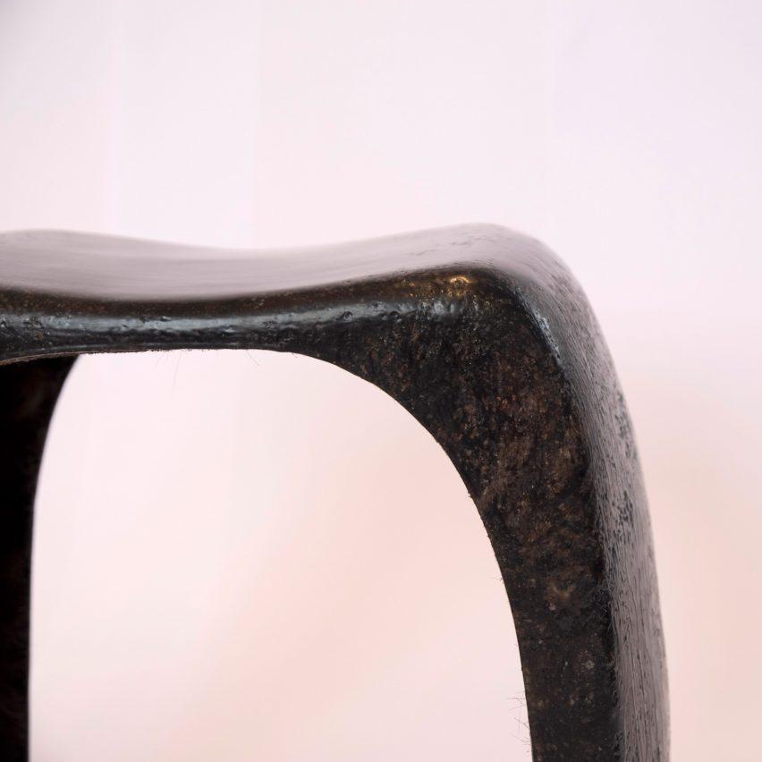 Oksana Bondar uses human hair to create biodegradable stool