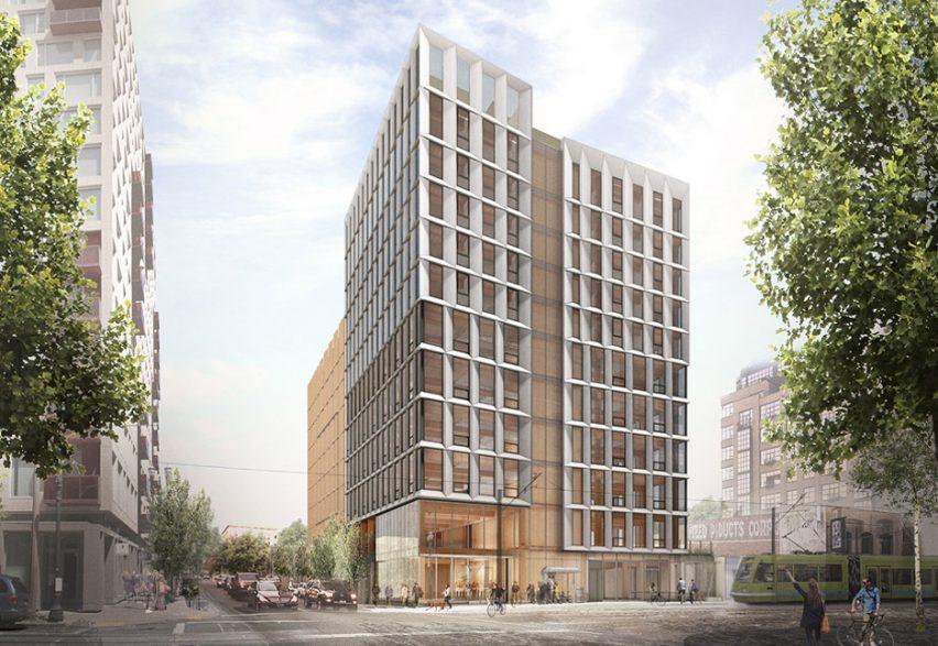 Framework timber tower for Portland