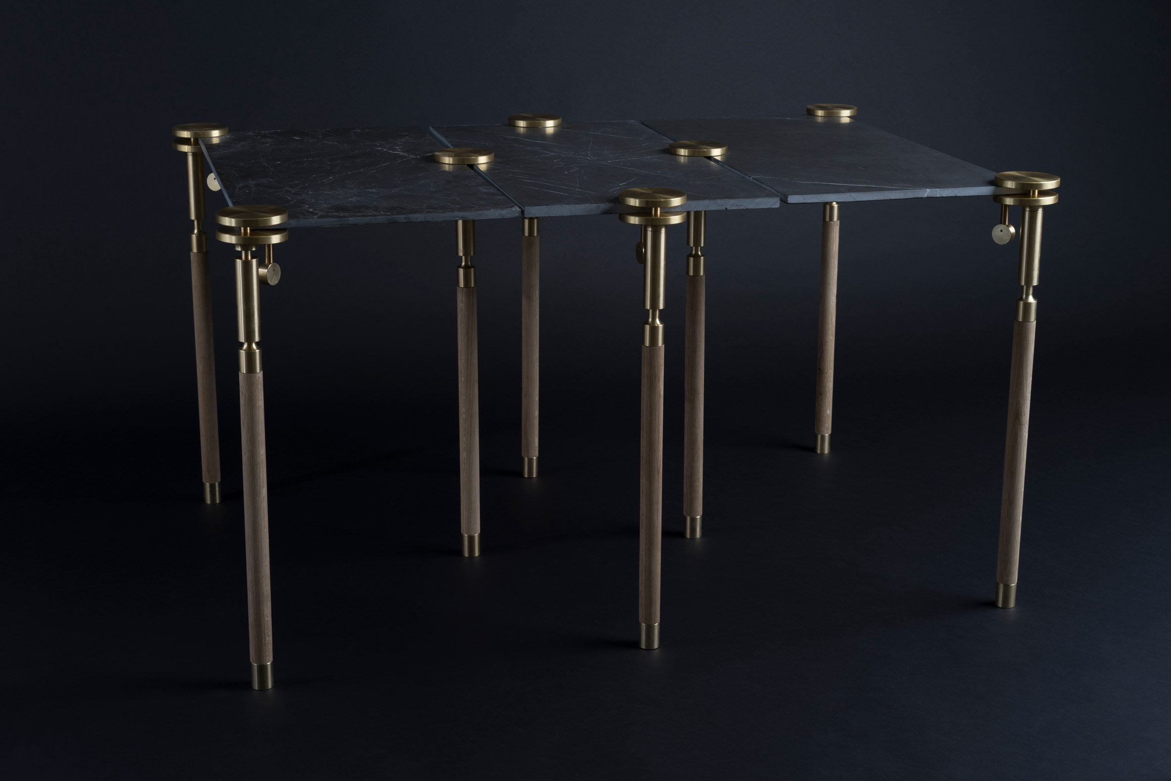 Josh Carmody's clamp system turns material samples into tables