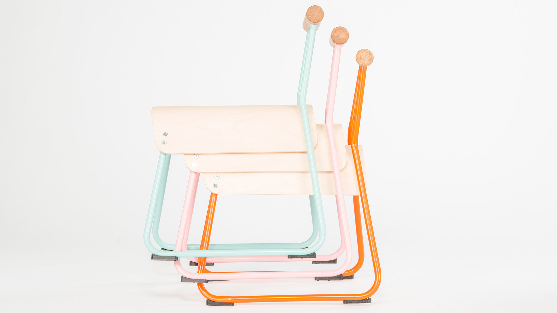 Masahiko Ito redesigns school chair to improve posture and tackle fidgeting